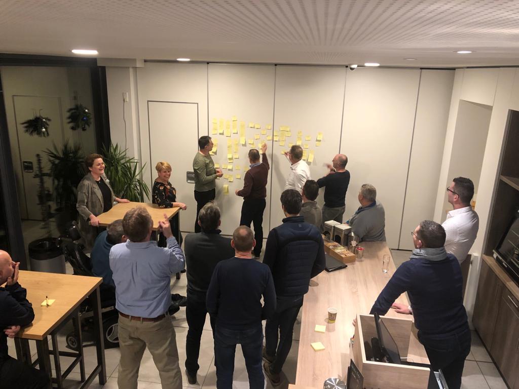 Brainstorm met betrokken leden