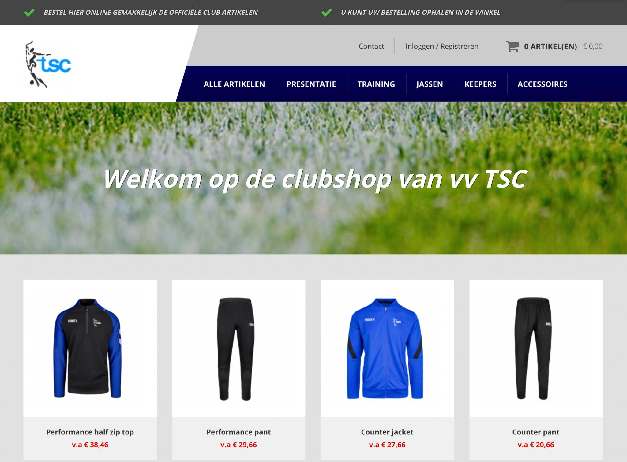 De TSC webshop is geopend!