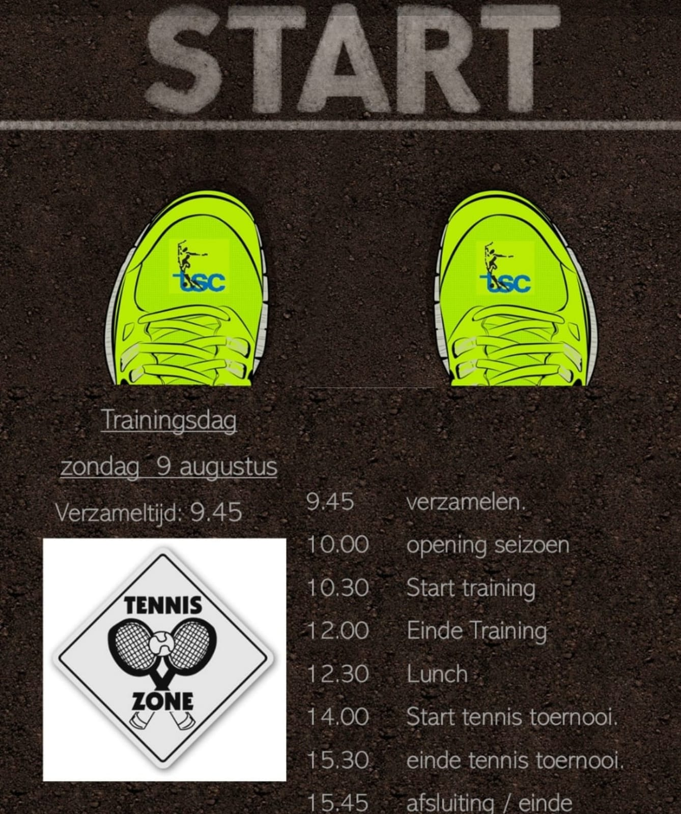 Eerste trainingsdag TSC selectie