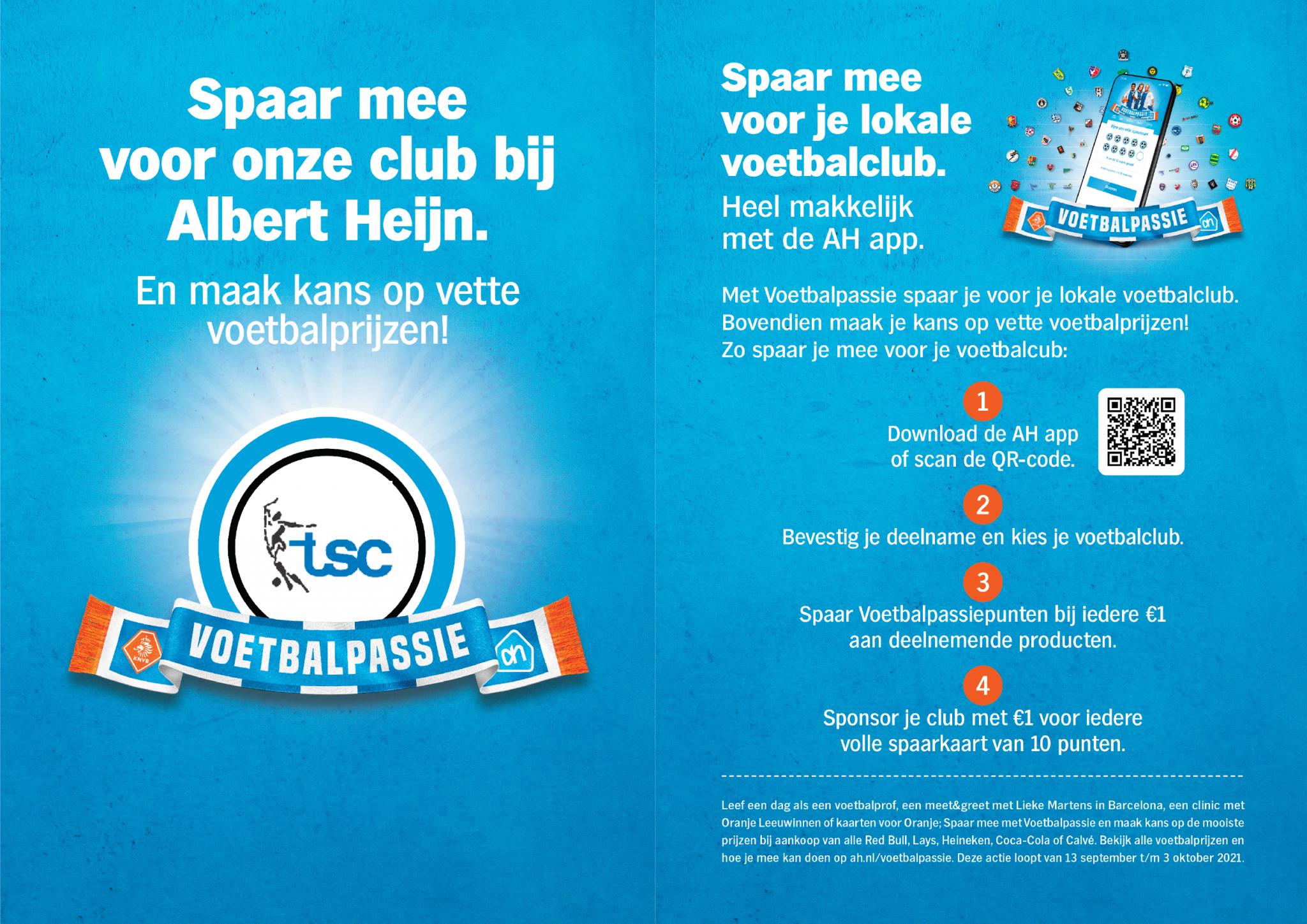 AH Spaaractie TSC tussenstand € 362,00. Blijf sparen!
