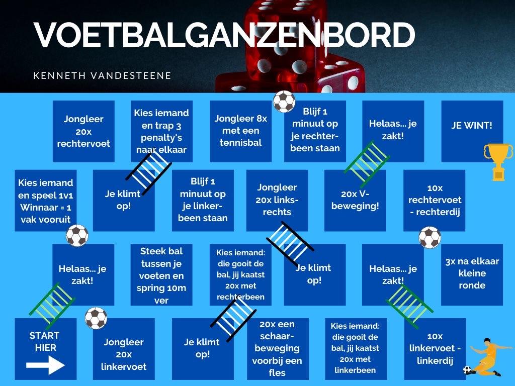 Voetbalganzenbord - Nog meer leuke challenges