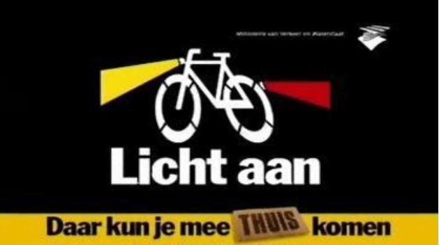 Zorg dat je gezien wordt - doe je licht aan op de fiets